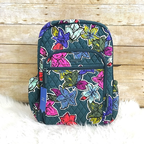 5ebfe0033295 Vera Bradley falling flowers campus tech backpack